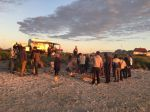 People enjoying midnight sun